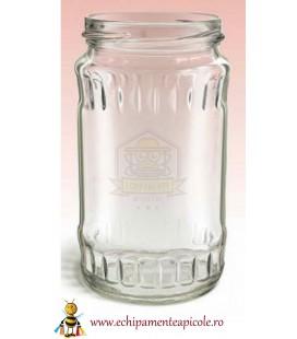Borcan din sticla 0.5kg cu capac