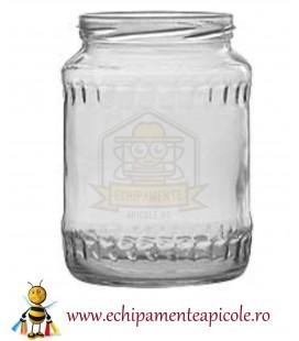Borcan din sticlă  1 kg cu capac