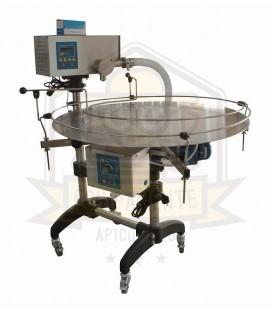 Mézkicsomagoló géphez forgó asztal
