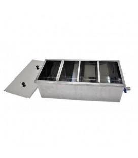Inox verticalis mézszűrőkád szimpla-100cm -Lyson