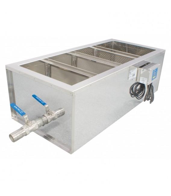 Inox verticalis mézszűrőkád fűtéssel -100cm-Lyson