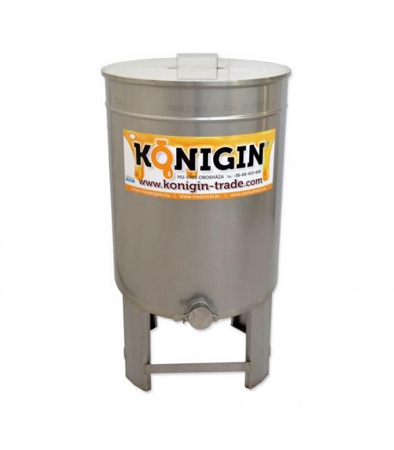 Maturator de miere 50litri cu canea inox + suport-KÖNIGIN