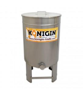150 literes mézletöltő tartály inox csappal +lábbal -KÖNIGIN
