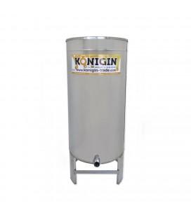 200 literes mézletöltő tartály inox csappal +lábbal -KÖNIGIN