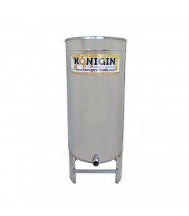 300 literes mézletöltő tartály inox csappal +lábbal -KÖNIGIN