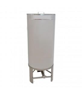 2000 literes mézletöltő tartály inox csappal +lábbal -KÖNIGIN