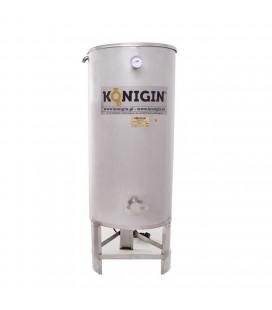 200 literes fűtött mézletöltő tartály inox csappal +lábbal - 1500W-KÖNIGIN