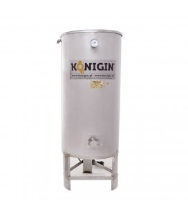 500 literes fűtött mézletöltő tartály inox csappal +lábbal - 3000W-KÖNIGIN