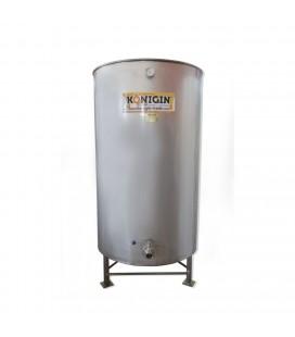 1000 literes fűtött mézletöltő tartály inox csappal +lábbal - 3000W-KÖNIGIN