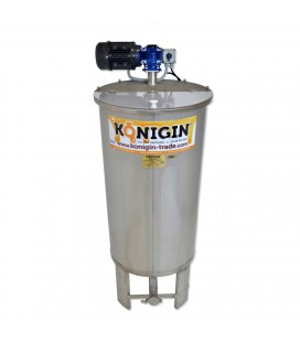 150 literes keverős mézletöltő tartály inox csappal +lábbal - 230V/250W-KÖNIGIN