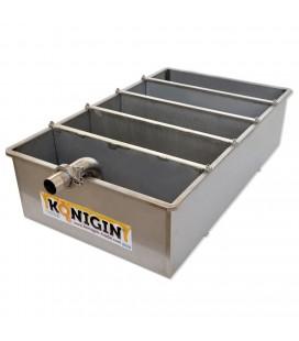 Inox verticalis mézszűrőkád 5 részes ülepítő-szűrővel-160L -KÖNIGIN