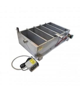 Inox verticalis mézszűrőkád fűtött 5 részes ülepítő-szűrővel-160L-230V/1100W -KÖNIGIN