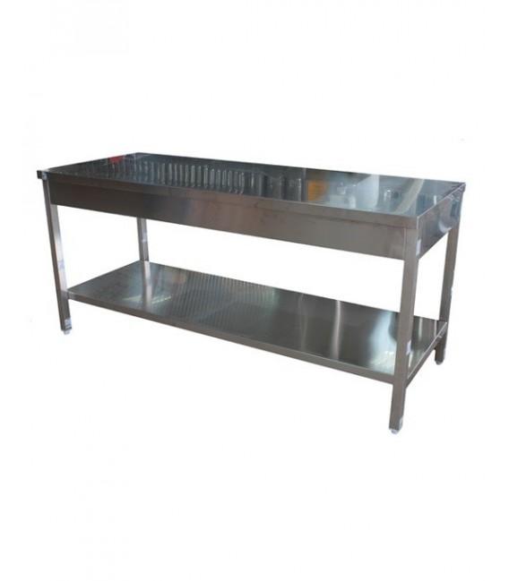 Inox asztal 1,8mx0,7m