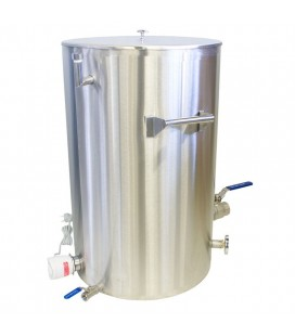 Decristalizator miere cu pereti dubli 200kg cu manere-LYSON