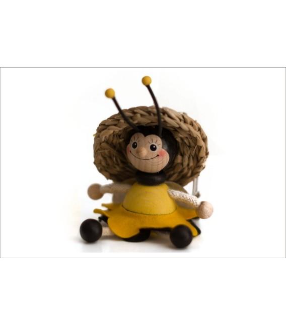 Méhecske lány kulcstartó
