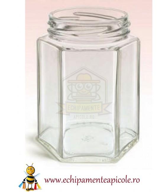 Borcan din sticlă -hexagonal 196 cl