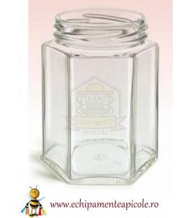 Mézes üveg-hegzagon 196cl