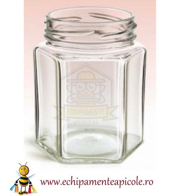 Borcan din sticlă -hexagonal 280 cl