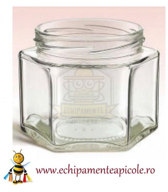 Mézes üveg-hegzagon 380cl