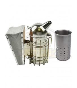 Afumator inox cu tub 23cm -cap rotund +cilindru