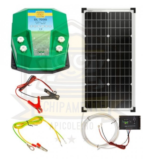 Aparat gard electric DL 7200, 7,2 Joule, cu sistem solar 30 W