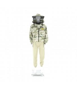 Bluza de protectie, cu palarie, model camuflaj