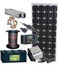 Pachet fotovoltaic starter II 2x100wp/100Ah