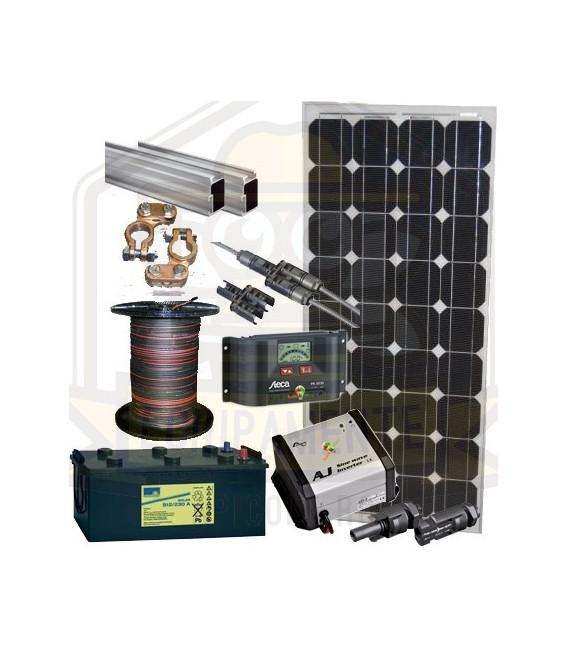 Pachet fotovoltaic starter III 2x100wp /2x100Ah